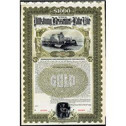 Pittsburg, Bessemer and Lake Erie Railroad Company Specimen Bond.
