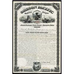 Oregon Pacific Railroad Co. Bond.
