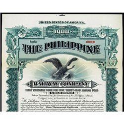 Philippine Railway Co. Specimen Bond.