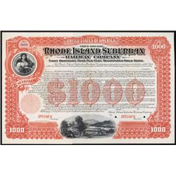 Rhode Island Suburban Railway Co. Specimen Registered Bond.