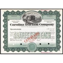 Carolina Traction Co. Specimen Stock.