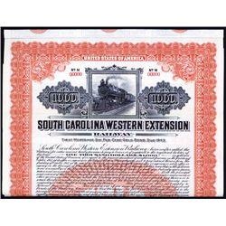 South Carolina Western Extension Railway Specimen Bond.
