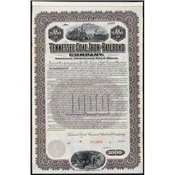 Tennessee Coal, Iron and Railroad Co. Specimen Bond.