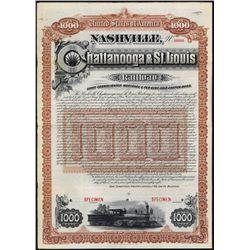 Nashville, Chattanooga & St.Louis Railway Specimen Bond.