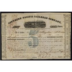Southern Pacific Railroad Co. Stock Certificate.