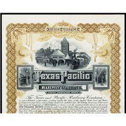 Texas and Pacific Railway Co. Specimen Bond.