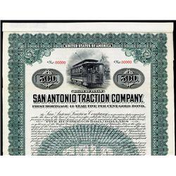 San Antonio Traction Co. Specimen Bond.