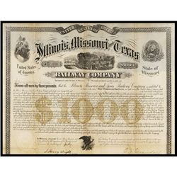 Illinois, Missouri and Texas Railway Company Bond.