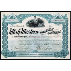 Utah Western Railway Co. With John W. Young Autograph.
