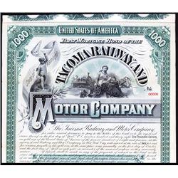 Tacoma Railway and Motor Co.Specimen Bond.