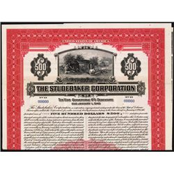 Studebaker Corporation Specimen Bond.