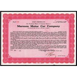 Marmon Motor Car.