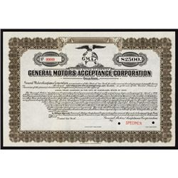 General Motors Acceptance Corp. Specimen Bond.