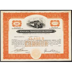 Schuylkill Transportation Co. Stock Certificate.