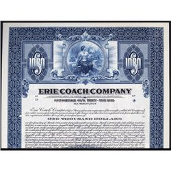 Erie Coach Co. Early Bus & Street Car Co. Specimen Bond.