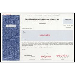 Championship Auto Racing Teams, Inc. Specimen.