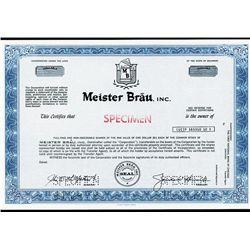 Meister Brau, Inc. Specimen Stock.