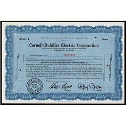 Cornell-Dubilier Electric Corp. Specimen Stock.