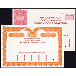 Xerox Corp. 2 Different Testing Certificates.