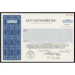 MTV Networks, Inc. Specimen Shares.