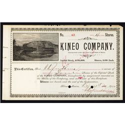Kineo Co. Maine Hotel Company Stock.