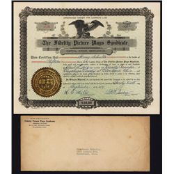 Fidelity Picture Plays Syndicate Stock Certificate.
