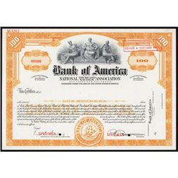 Bank of America National Trust and Savings Association Specimen Stock.