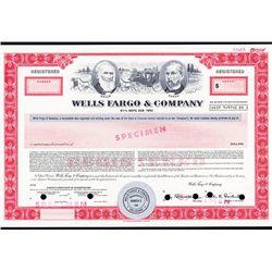 Wells Fargo & Company Specimen Bond.