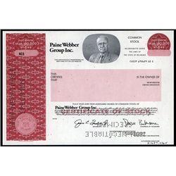 Paine Webber Group Inc. Specimen Stock.