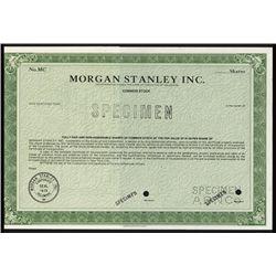 Morgan Stanley Inc. Specimen Stock Certificate.