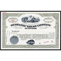 Guaranty Trust Co. of New York Specimen Stock.