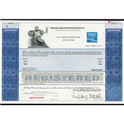 Shearson Lehman / American Express, Inc.