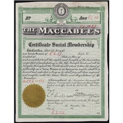 The Maccabees - Early Group Insurance Organization.