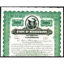 State of Mississippi, Specimen Bond.