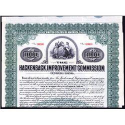 Hackensack Improvement Commission Specimen Bond.