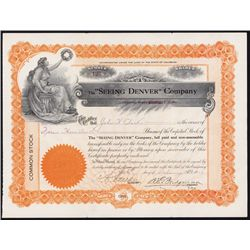 """ Seeing Denver"" Co. Stock Certificate."