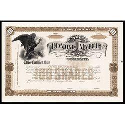 Diamond Match Co. Proof Stock Certificate.
