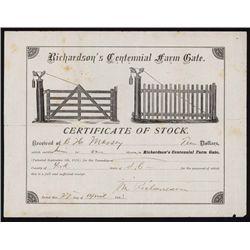 Richardson's Centennial Farm Gate