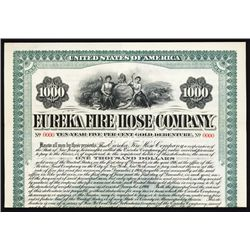 Eureka Fire Hose Co. Specimen Bond.