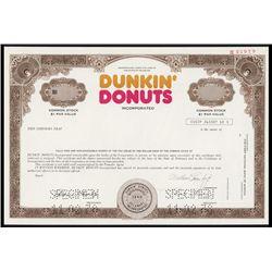 Dunkin Donuts Inc. Specimen Stock.