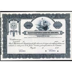 Banco Hipotecario De Bogota, Specimen Stock Certificate.