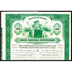 Banco Agricola Hipotecario Specimen Bond.