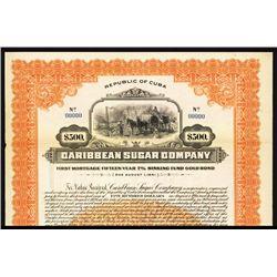 Caribbean Sugar Co. Specimen Bond.