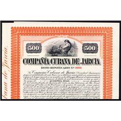 Compania Cubana De Jarcia Specimen Bond.