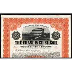 Francisco Sugar Co. Specimen Bond.
