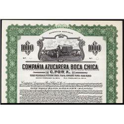 Compania Azucarera Boca Chica C. por A. Specimen Bond.