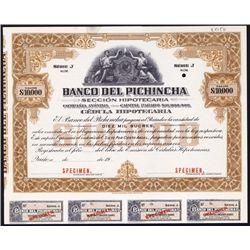 Banco del Pichincha Specimen Bond.