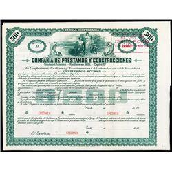 Compania de Prestamos Y Construccinoes Specimen Bond.