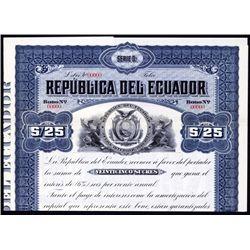 Republica del Ecuador Specimen Bond.