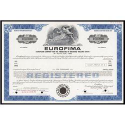 EUROFIMA Specimen Bond.